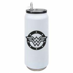 Термобанка 500ml Wonder woman logo and stars