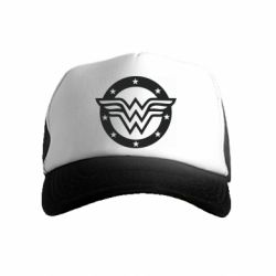 Дитяча кепка-тракер Wonder woman logo and stars