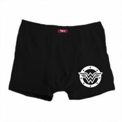 Мужские трусы Wonder woman logo and stars