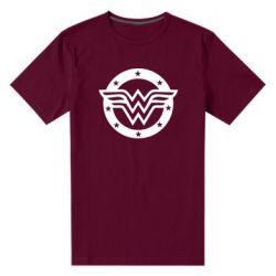 Чоловіча стрейчева футболка Wonder woman logo and stars