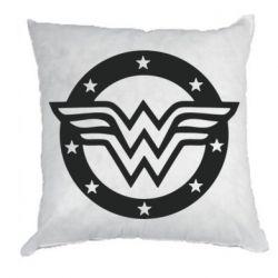 Подушка Wonder woman logo and stars