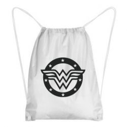 Рюкзак-мішок Wonder woman logo and stars