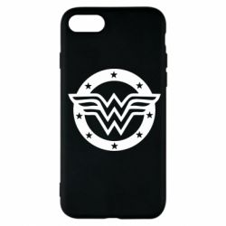 Чехол для iPhone 7 Wonder woman logo and stars