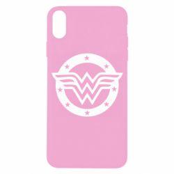 Чехол для iPhone X/Xs Wonder woman logo and stars