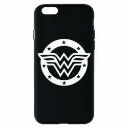 Чехол для iPhone 6/6S Wonder woman logo and stars