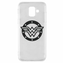 Чехол для Samsung A6 2018 Wonder woman logo and stars