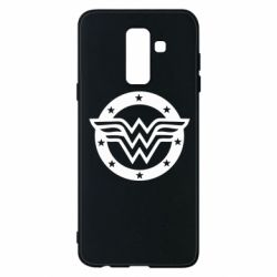 Чехол для Samsung A6+ 2018 Wonder woman logo and stars