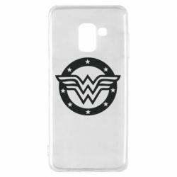 Чехол для Samsung A8 2018 Wonder woman logo and stars