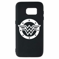 Чохол для Samsung S7 Wonder woman logo and stars