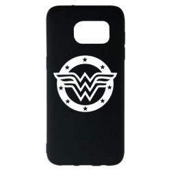 Чехол для Samsung S7 EDGE Wonder woman logo and stars
