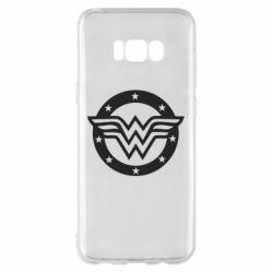 Чохол для Samsung S8+ Wonder woman logo and stars