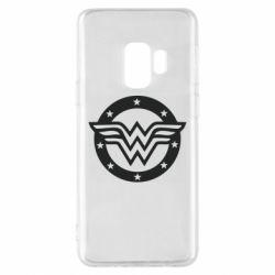 Чехол для Samsung S9 Wonder woman logo and stars