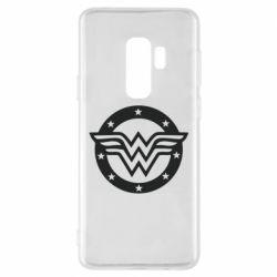 Чехол для Samsung S9+ Wonder woman logo and stars