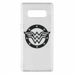 Чехол для Samsung Note 8 Wonder woman logo and stars