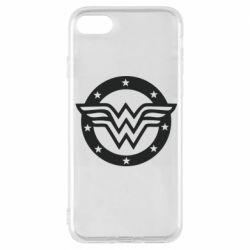 Чехол для iPhone 8 Wonder woman logo and stars