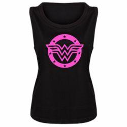 Женская майка Wonder woman logo and stars