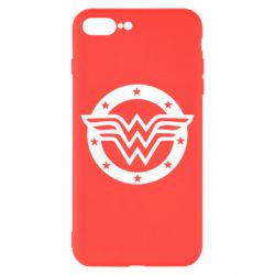 Чехол для iPhone 8 Plus Wonder woman logo and stars