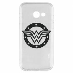 Чехол для Samsung A3 2017 Wonder woman logo and stars