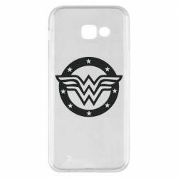 Чехол для Samsung A5 2017 Wonder woman logo and stars