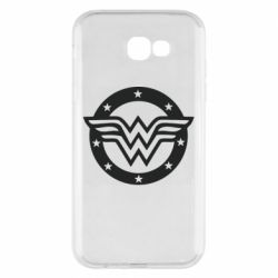 Чехол для Samsung A7 2017 Wonder woman logo and stars