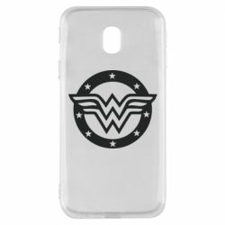 Чехол для Samsung J3 2017 Wonder woman logo and stars