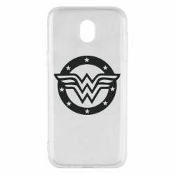 Чехол для Samsung J5 2017 Wonder woman logo and stars