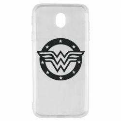 Чехол для Samsung J7 2017 Wonder woman logo and stars