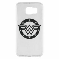 Чехол для Samsung S6 Wonder woman logo and stars