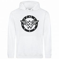 Мужская толстовка Wonder woman logo and stars