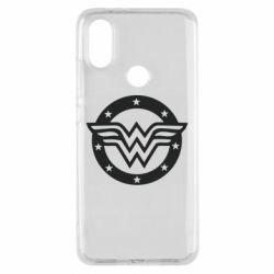 Чехол для Xiaomi Mi A2 Wonder woman logo and stars