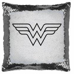 Подушка-хамелеон Wonder Woman Logo