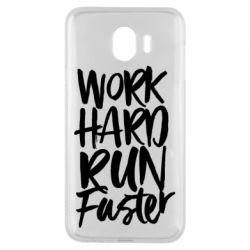 Чохол для Samsung J4 Work hard run faster