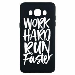 Чохол для Samsung J7 2016 Work hard run faster