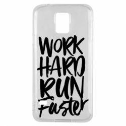 Чохол для Samsung S5 Work hard run faster