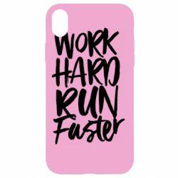 Чохол для iPhone XR Work hard run faster