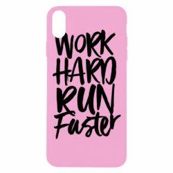 Чохол для iPhone Xs Max Work hard run faster