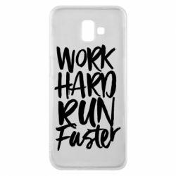 Чохол для Samsung J6 Plus 2018 Work hard run faster