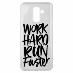 Чохол для Samsung J8 2018 Work hard run faster