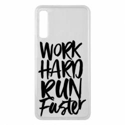 Чохол для Samsung A7 2018 Work hard run faster