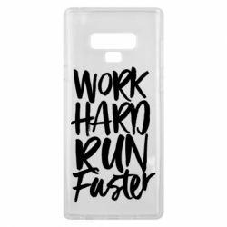 Чохол для Samsung Note 9 Work hard run faster