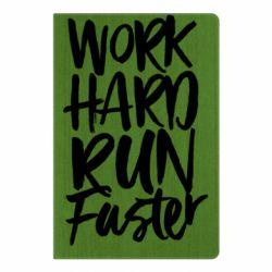 Блокнот А5 Work hard run faster