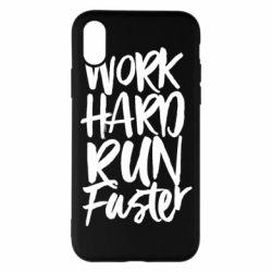 Чохол для iPhone X/Xs Work hard run faster