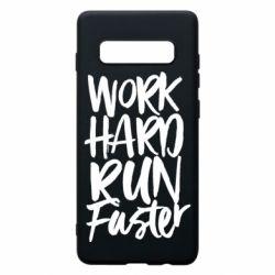 Чохол для Samsung S10+ Work hard run faster