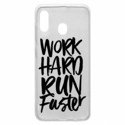 Чохол для Samsung A20 Work hard run faster