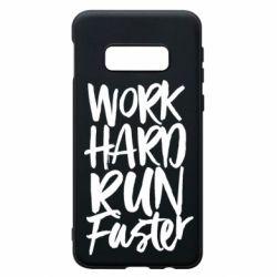 Чохол для Samsung S10e Work hard run faster