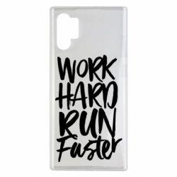 Чохол для Samsung Note 10 Plus Work hard run faster
