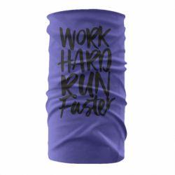 Бандана-труба Work hard run faster