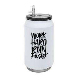 Термобанка 350ml Work hard run faster