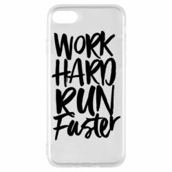 Чохол для iPhone 7 Work hard run faster