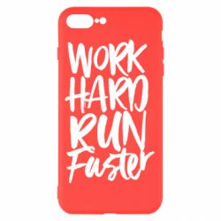 Чохол для iPhone 7 Plus Work hard run faster